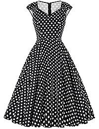GRACE KARIN® Damen 50s Vintage Rockabilly Kleid Festliches Kleid Sommerkleid CL007600