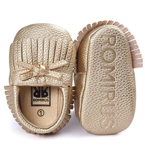 BZLine® Baby-Krippe Quasten Bowknot Schuhe Sneakers Casual Schuhe Gold