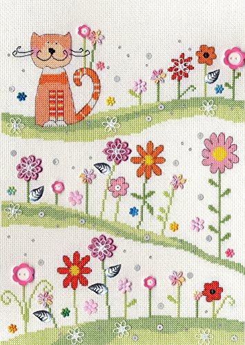 'Bothy Threads Kreuzstich Set–Daisy Patch Katze (Daisy Threads)