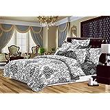 135x200 Bettwäsche mit 1 Kissenbezug 80x80 abstraktes Muster Bettbezüge Microfaser Bettwäschegarnituren Hypnosis Baroque schwarz weiß grau