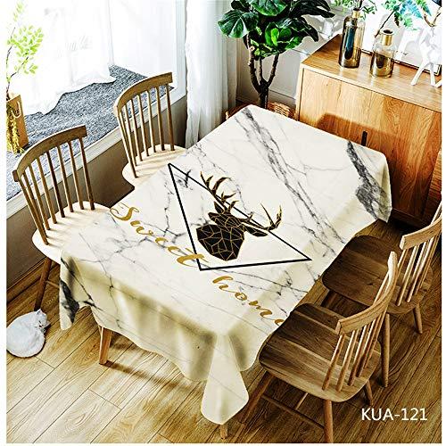 QWEASDZX Tischdecke Polyestergewebe Digitaldruck Ölbeständiges Antifouling Rechteckige Tischdecke Wiederverwendbare Picknicktischdecke Geeignet für Innen und Außen 140x180cm