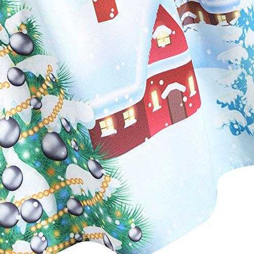 CharMma Damen Weihnachten Übergröße Spitzen Ärmellos Party Vintage Midi Kleid Purpurrot