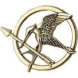 fashionjewellery4u Broche con diseño de pájaro de The Hunger Games para atrapar Fuego, Cosplay, Unisex, Bronce Antiguo