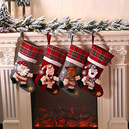 Galapara Chaussette de Noel à Suspendre Sac Cadeau de Noël...