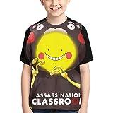 huatongxin Anime Camisetas de niño Assassination Classroom Korosensei Camiseta de Manga Corta para niños