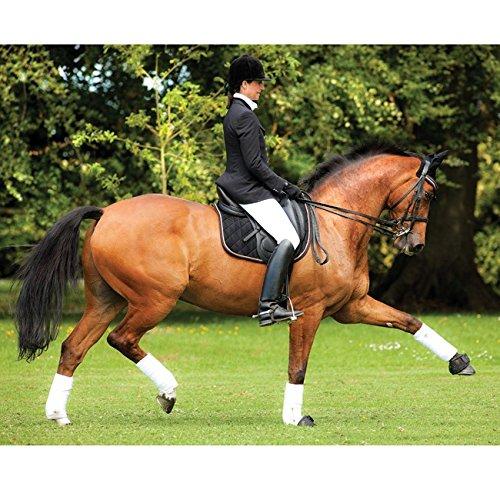 Horseware Rambo Grand Prix Show Dressage Saddle Pad - black/tan-orange-black - Schabracke Dressur, Groesse:Pony (S)