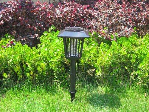 E lue lampada da giardino con picchetto a energia solare