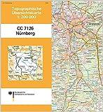 Nürnberg: Topographische Karte 1 : 200 000 CC7126 (Topographische Übersichtskarten 1:200000)