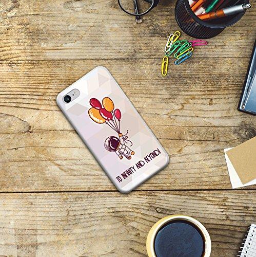 WoowCase Hülle Case für [ iPhone 7 ] Handy Cover Schutzhülle Gehirn, Musik und Wissenschaft Housse Gel iPhone 7 Transparent D0415