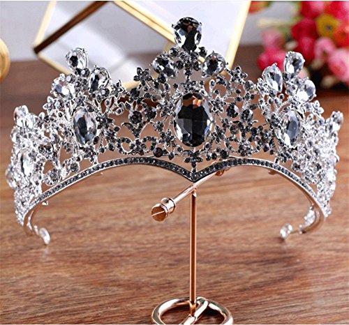 GWQ Hochzeit Krone Braut Tiara Handgemachter Kristall Diamant Haarband Barocke Palastkrone Kommunion Haar ZubehöR Silber