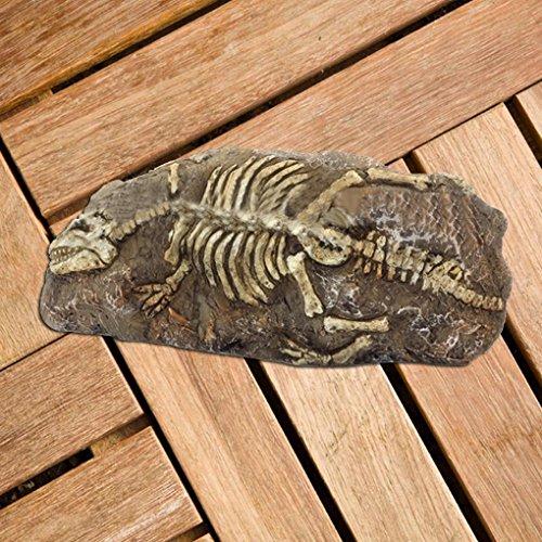 Preisvergleich Produktbild Topker Resin Rock Aquarium Dinosaurier Libelle Fossil Ornament Dekor für Fisch Tank