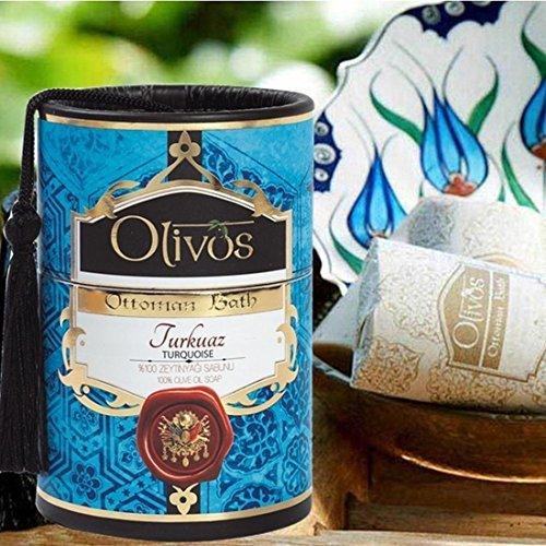 OLIVOS Ottoman Bath Savon Turquise 2 x 100 g