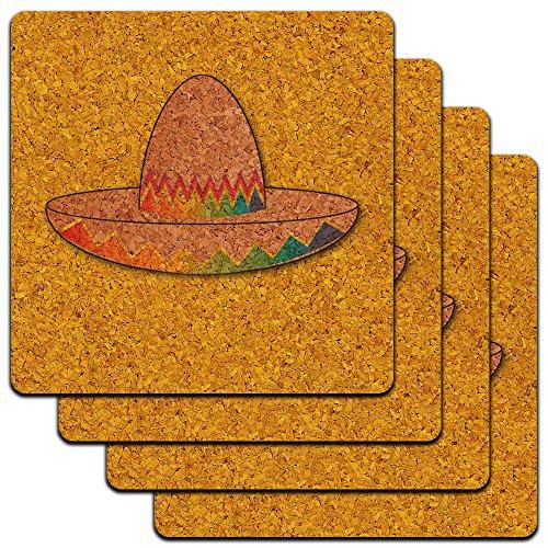 en Cinco De Mayo Mexiko Low Profile Cork Untersetzer Set (Cinco De Mayo Getränke)