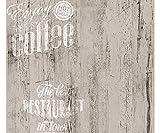 Carta da parati Cucina | Caffè Legno White - supporto in Carta Duplex effetto legno di qualità facile da applicare