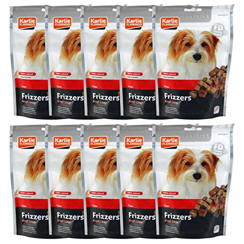 karlie-flamingo-frizzers-beef-liver-cubes-10-x-50g-bags-pouches-of-healthy-dog-treats-100-natural-pr