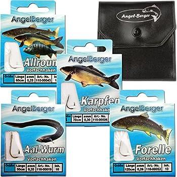 Gr/ö/ße:6 VMC Perfect Forelle gebundene Forellenhaken 60cm Vorfachl/änge