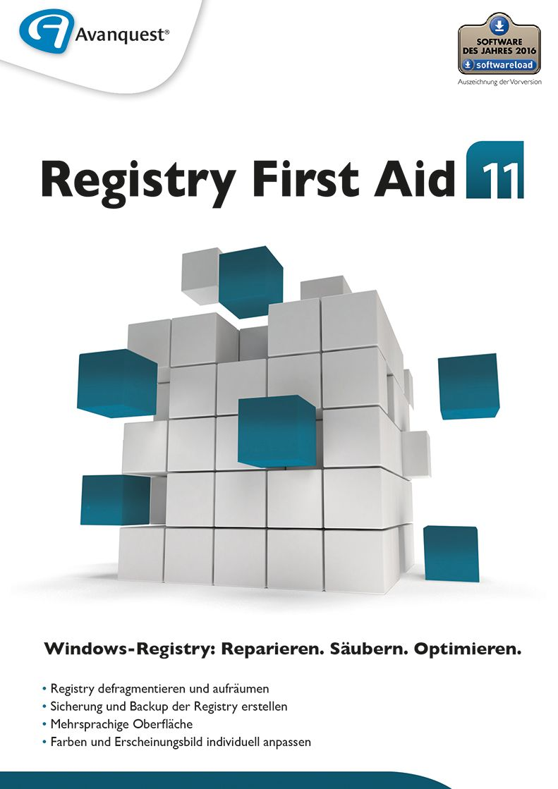 Preisvergleich Produktbild Registry First Aid 11 - Reparieren, Säubern und Optimieren Sie Ihre Windows-Registry! Windows 10|8|7|Vista|XP [Download]