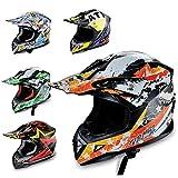 HECHT Motocrosshelm 53915 Motorrad-Helm Enduro ABS Quadhelm (M (57-58 cm),...
