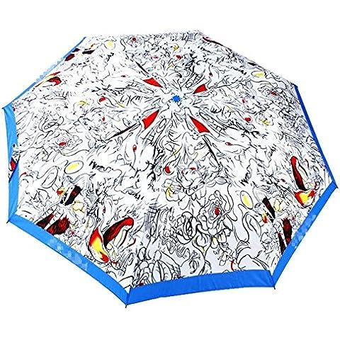 Paraguas plegable con 8estrías, durable y resistente para el viento Violent y fuerte lluvia xagoo® estilo clásico con mango de triángulo apertura y cierre automático