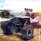 Ferngesteuerter Geländewagen Klettern Sie Berg Bigfoot 2.4Ghz 4WD Drahtloser Fernsteuerungslastwagen 1:16 SUV, Der Auto-Monster-Auto Klettert,Silver