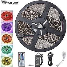 ALED LIGHT 10M 5050 RGB 600 LED que cambia de color tiras de LED con 44 IR remoto + 24V 3.5A AC EU Plug adaptador de fuente de alimentación para la lluminación hogar y la cocina decorativa