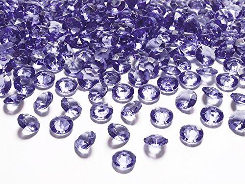 Schnooridoo 500 Diamanten Violett/Lila 12mm Tischdekoration Streuartikel Hochzeit Taufe Konfirmation Event Deko