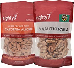 Eighty7 California Almonds and Walnuts Kernels Combo, 430g