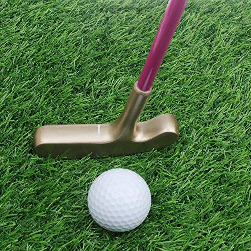 crestgolf 68,6cm Edelstahl zwei Wege Kinder Bullseye Putter, Golf Club Junior, Age5–8(Pink Schaft mit Gold/Blau Schaft mit Silber Kopf für Ihre Kinder), gold head pink shaft