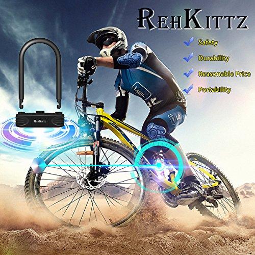 """Candado Bicicleta De Combinación De Uso Rudo Para Bici En Forma De """"U"""" REHKITTZ De 16mm;Elimine La Necesidad De Ilevar la llave; Soporte De Montaje GRATUITO;Nueva Tecnología De Uso Rudo"""