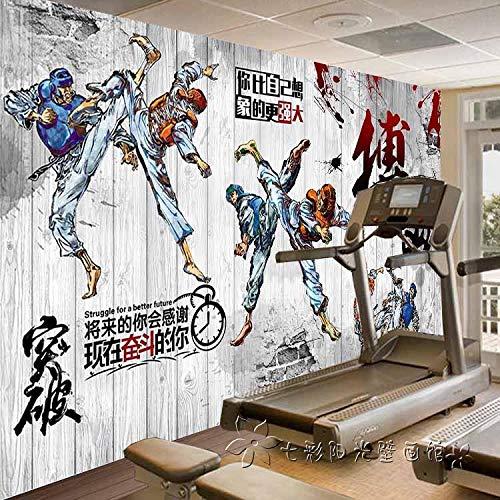 Mural Papel Pintado Papel Tapiz Un Mural Grande Personalidad Taekwondo Hall De Adiestramiento De Papel Tapiz De Pared Deportes De Combate Deportes De Gimnasio Papel Tapiz