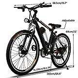 begorey 26 Zoll Lithium-Batterie Elektrisches Mountainbike Double-Layer-Aluminiumlegierung Rad Geschwindigkeit 25-35km/h