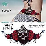 LadyBeauty Frauen Brust Aufkleber temporäre Tattoos Wasserdichte Tattoos Abnehmbare Körper Aufkleber (Farbe : BC003#)
