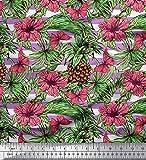 Soimoi Lila Schweres Canvas Stoff Streifen, Kiefer &