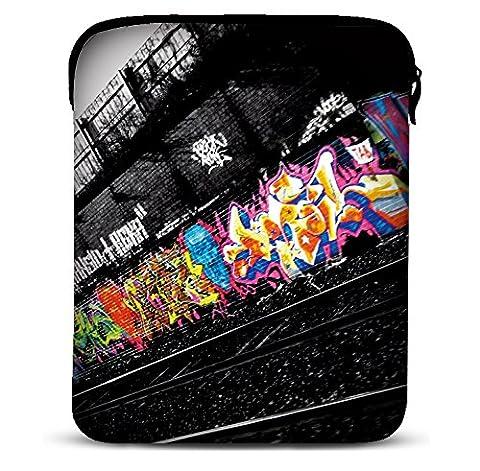 MySleeveDesign Samsung Galaxy Tab 4 7.0 Sleeve Hülle für Tablets von 7 - 7,9 Zoll - Tasche geeignet für Fire HD Apple iPad mini Lenovo A7 Acer A1 One 7 Asus Nexus Kindle uvm. - Graffiti [7]