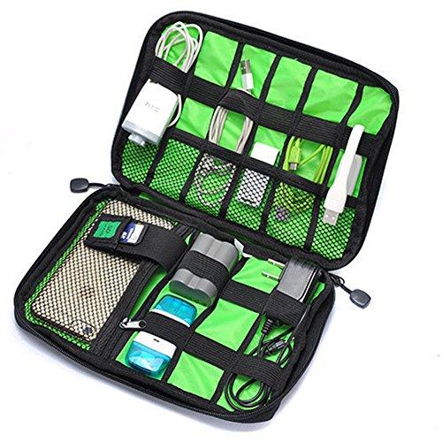 Câble universel de voyage Organiseur Electronics Accessoires portables, organiseur de voyage pour chargeur de téléphone et divers Coque USB (Gjb19) noir
