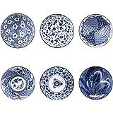 Binoster Ensemble de Bols de céréales à Motifs, 6 Individuel Dessins Japonais Bols en Céramique pour Les céréales/soupes, Lot