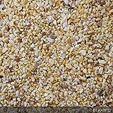 Steinteppich Marmorkies für 2qm | BEKATEQ BK-600EP Bodenbelag Bodenbeschichtung (25KG Marmorkies + 1,5KG Bindemittel - Gelbmix)