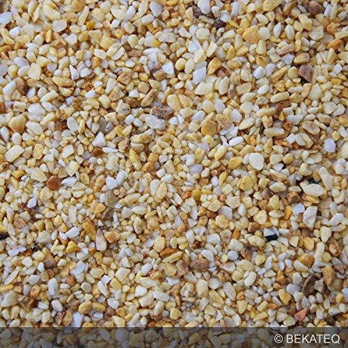 BEKATEQ BK-590 Marmorkies Naturstein, Mix-Gelb 25kg, Marmorsplitt, gewaschen, 3-5mm, Steinteppich -
