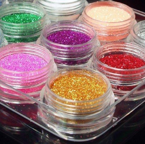 nail art powder 12color dust glitter sparkle nail tip decoration Body Care / Beauty Care / Bodycare / BeautyCare by Beauty4U