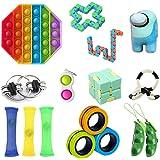 23GUANYI Sensory Fidget leksaksset, leksaksset, pressa antistressleksaker, dekompressionsleksak för barn och vuxna (10 typer)