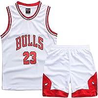 Formesy Ragazzi Ragazze Chicago Bulls Jorden # 23 Pantaloncini da Basketball Jersey Set di Abbigliamento Sportivo Maglie Estate Suit Kit Set Retro Shorts e Jersey Basket Uniform Top e Shorts