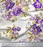 Soimoi Schneiderei 42 Zoll breit mit Blumenmuster 55 GSM