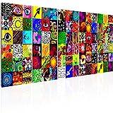murando Quadro Acustico su fliselina colorato 200x80 cm Protezione dai rumori Isolamento Acustico 5 Pezzi Quadri murali XXL Fonoassorbente Design a-A-0316-b-m