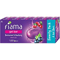 Fiama Gel Bar Blackcurrant and Bearberry, with skin conditioners for moisturized skin 125g soap (Pack of 6)
