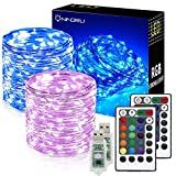 Onforu 2er Pack 10M USB LED Lichterkette RGB