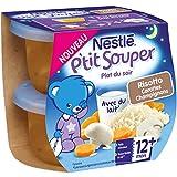 Nestlé Bébé P'tit Souper Risotto aux Champignons - Plat Légumes et Féculents dès 12 Mois - 2 x 200g - Lot de 4
