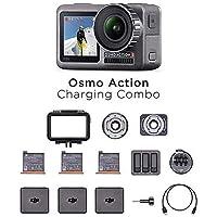 DJI Osmo Action Charging Combo - Digitalkamera mit Zubehör-Kit enthalten, 2 Bildschirmen, wasserdicht bis zu 11 m…