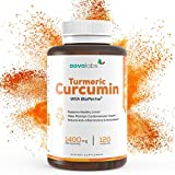 Turmeric Curcumin Supplement [ 1400 mg ] By Aava Labs - 95% Curcuminoids - Highest Potency With Patented BioPerine - Powerful Natural Antioxidant, Anti-Aging & Anti-Inflammatory - Vegan - 120 Veggie Caps.