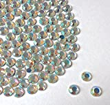 Diamante Me Cristales AB de 4mm, aplicación con calor o plancha, parte posterior plana, imitación de diamantes de grado AA