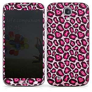 Samsung Galaxy S4 Case Skin Sticker aus Vinyl-Folie Aufkleber Leo Pink Animal Print